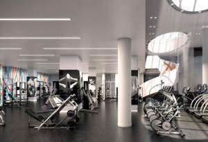 Multi-family Fitness Center with bikes and strength equipment