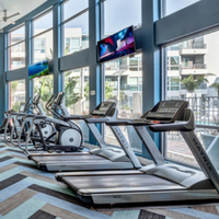 treadmills is a apartment fitness center