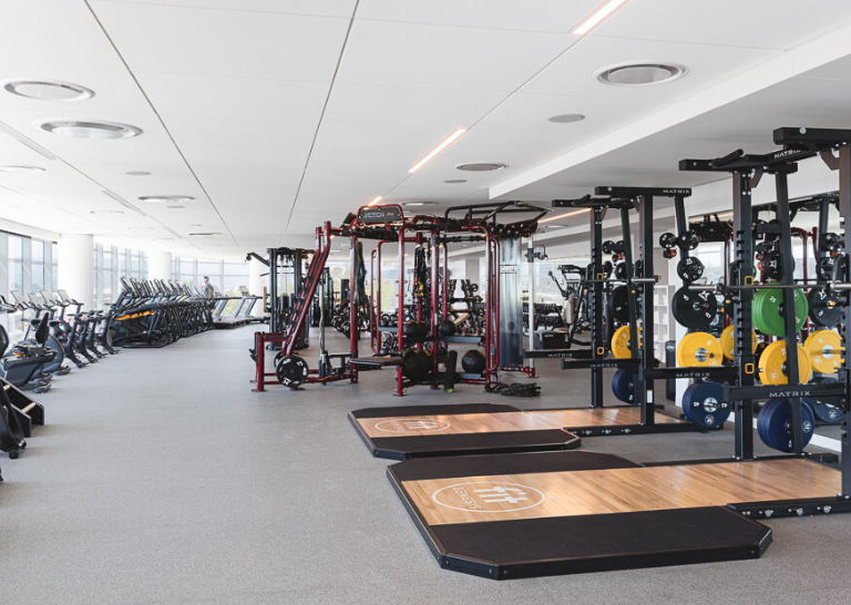 corporate fitness center equipment